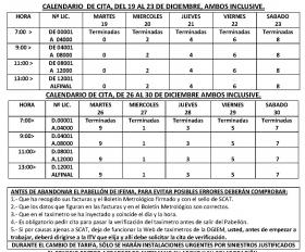 INYECCIÓN DE TARIFAS Y CALENDARIO LABORAL 2018