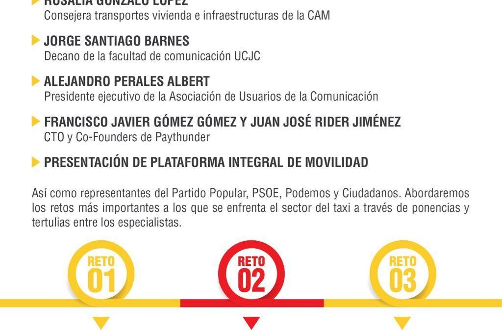 20 DE ENERO: CONFERENCIA LOS RETOS DE TAXI EN ESPAÑA ¡TE ESPERAMOS!