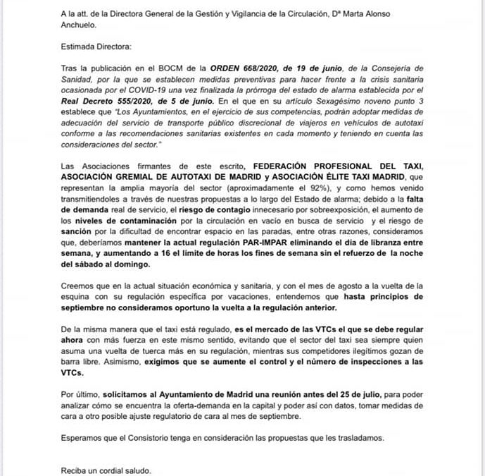 SOLICITUD AL AYUNTAMIENTO DE MADRID SOBRE EL RÉGIMEN DE LIBRANZAS