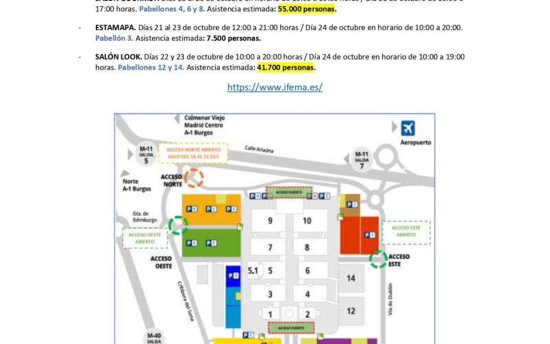 ‼‼TOMA NOTA‼‼ INFORMACIÓN PARA TAXISTAS 🚕ACCESOS EVENTOS IFEMA 13 AL 24 OCTUBRE 2021