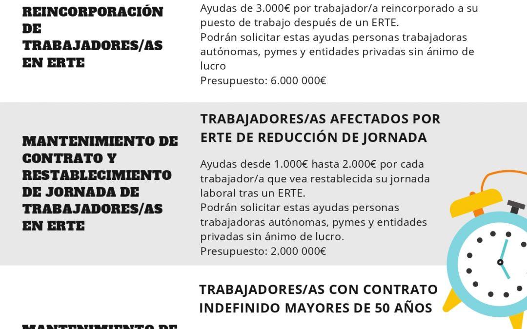¡¡¡¡ATENCIÓN!!! AYUDAS E INCENTIVOS A LA CONTRATACIÓN Y MANTENIMIENTO DEL EMPLEO DE TRABAJADORES (SALIDA ERTE, MANTENIMIENTO MAYORES 50 AÑOS, CONTRATACIÓN INDEFINIDA,…)