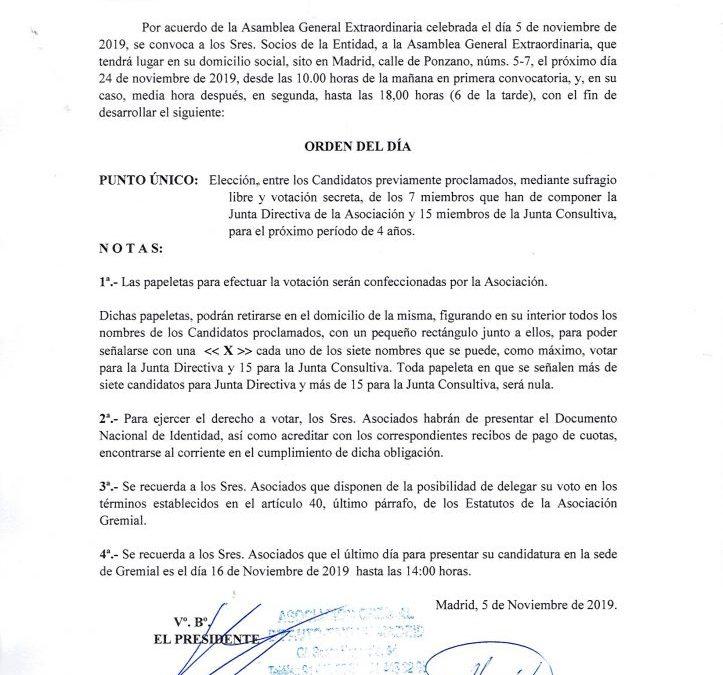 ELECCIONES EN LA ASOCIACIÓN GREMIAL DE AUTO-TAXI DE MADRID